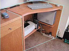 パソコン机 25128
