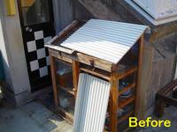 木製温室の修理前