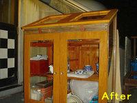 木製温室の修理後