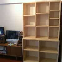 可動棚付き壁面収納DIY