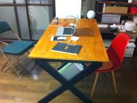 テーブル ブックラック付きテーブル 自作 DIY