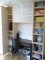 壁面収納 DIY 書斎スペース