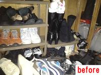 DIY 収納 靴収納 ビフォーアフター