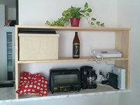 DIY カウンター上の棚 自作