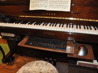 ピアノ DIY 収納 キーボード収納 作曲