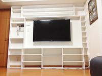壁面収納 DIY テレビ 棚 自作