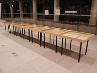 奈良県立図書情報館 展示会 展示台 木製台