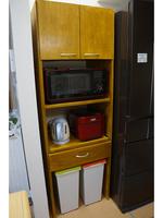 キッチン収納 レンジ棚 自作家具 DIY