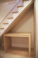 階段下収納DIY作品:空間内の様子正面から