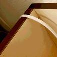 DIYならではのピッタリ具合:家具コード除けの切り込み