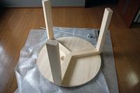 パイン集成材の丸テーブルのDIY