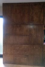 DIYした大型壁面収納