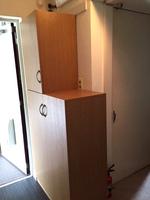 玄関収納、下駄箱のDIY作品の扉を閉めた状態の写真