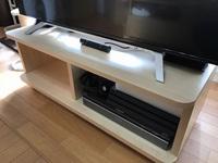 DIYで作った、キャスター付きテレビ台