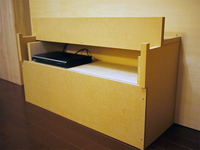オリジナルデザインのリビング収納棚