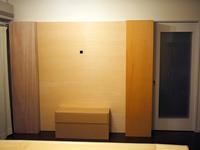 棚を収納し、壁の状態