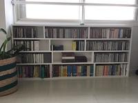 CD・文庫本を収納した自作のCD&文庫本ラック