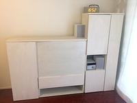 テレビキャビネットを含む壁面収納、テレビ収納時