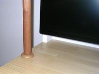 自作の円柱棒端に取り付けたベゼル