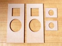 スピーカー自作用加工済板材