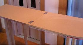蝶番付き木製台