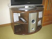 丸テーブルの再生テレビ台