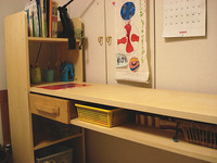 学習机(棚付き)
