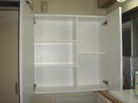 キッチンの吊り戸棚内部