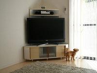 コーナーテレビ台の自作、薄型テレビ