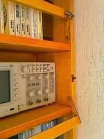 自作本棚の地震対策