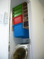 洗濯機上の収納棚