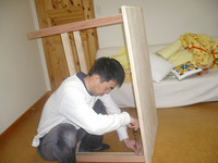 手作り学習机 diy作成中