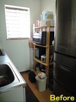キッチンラックの自作ビフォー