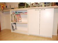 カウンター下本棚と食器棚の自作