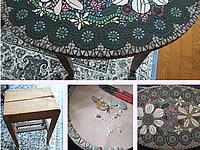 モザイクタイルテーブルDIY2