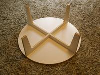 木製ローテーブルの裏側DIY