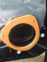 インナーバッフルボード用MDFに塗装