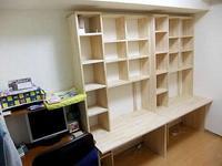 壁面収納付の学習机