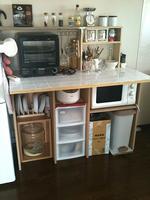 キッチン収納(タイル貼り)
