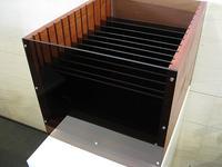 木製ファイル棚