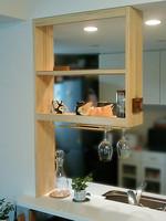 カウンターキッチン棚