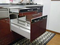 システムキッチンの食洗機跡を改造