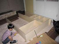 玄関収納棚用の木材