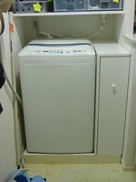 洗濯機脇の収納棚