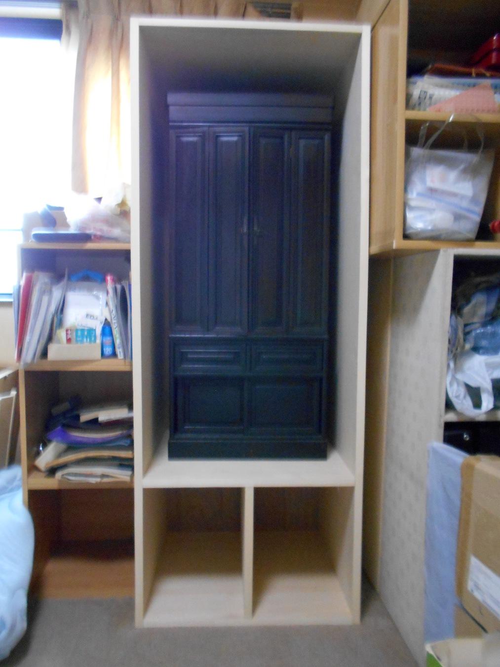自作の仏壇収納棚