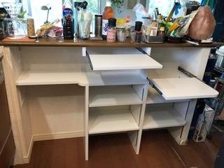 DIYでリメイクしたキッチンカウンター