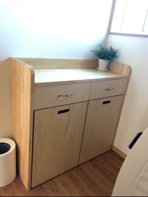 自作のバスルーム収納